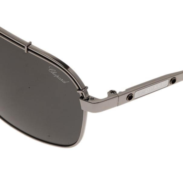 Chopard Grey and Black SCHA02M Polarized Aviators