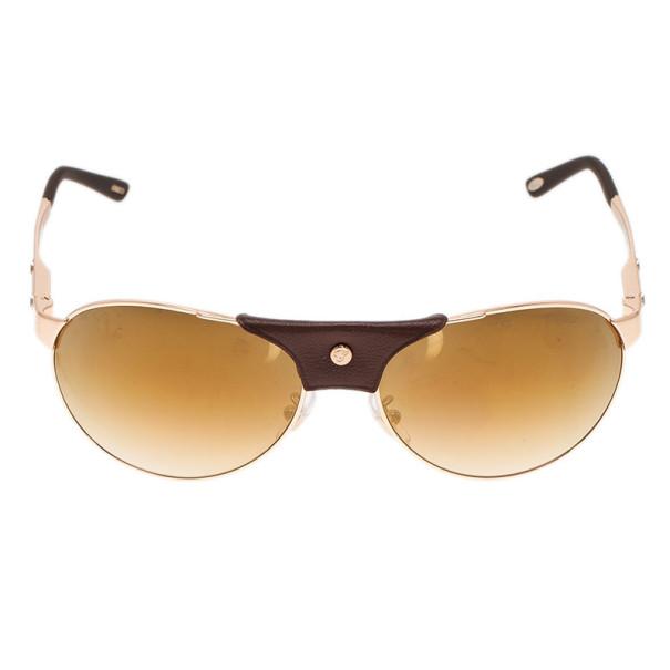 Chopard Gold and Brown SCH974 Aviators