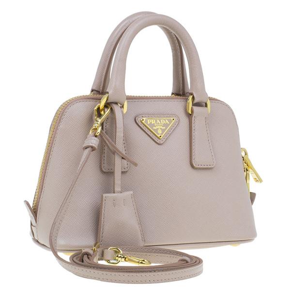 replica prada purses - Prada Saffiano Blush Vernice Mini Promenade Bag - Buy \u0026amp; Sell 4396 - LC
