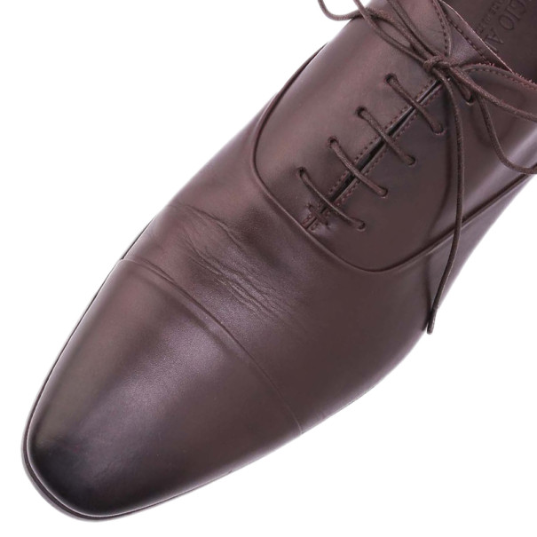 Giorgio Armani Brown Leather Oxfords Size 44.5