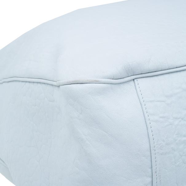 Saint Laurent Paris White Roady Leather Hobo