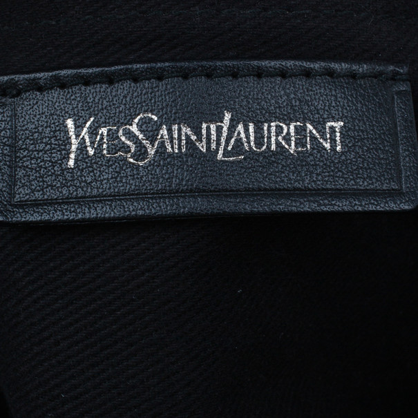Saint Laurent Paris Black  Leather Muse Two Small Tote