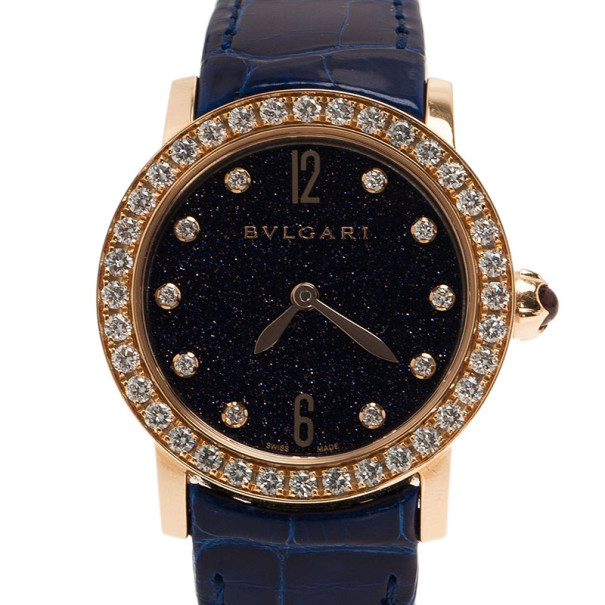 Bvlgari Black 18K Rose Gold BBL P33G/PO1332 Women's Wristwatch 32MM