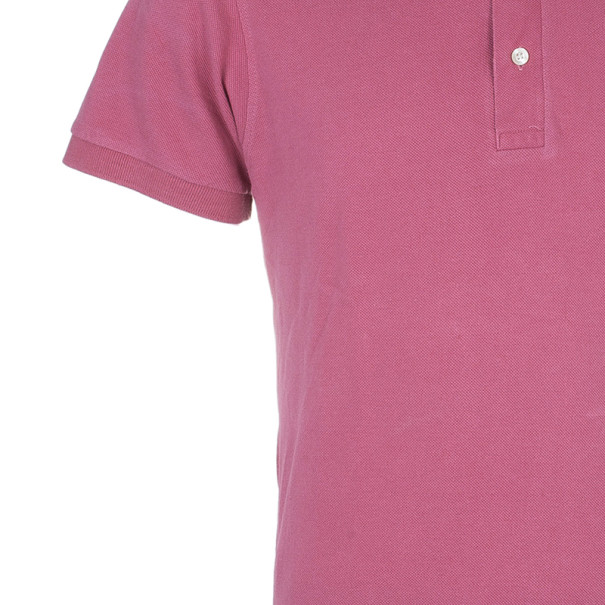 Burberry London Mens Pink Slim Fit Polo T-Shirt L