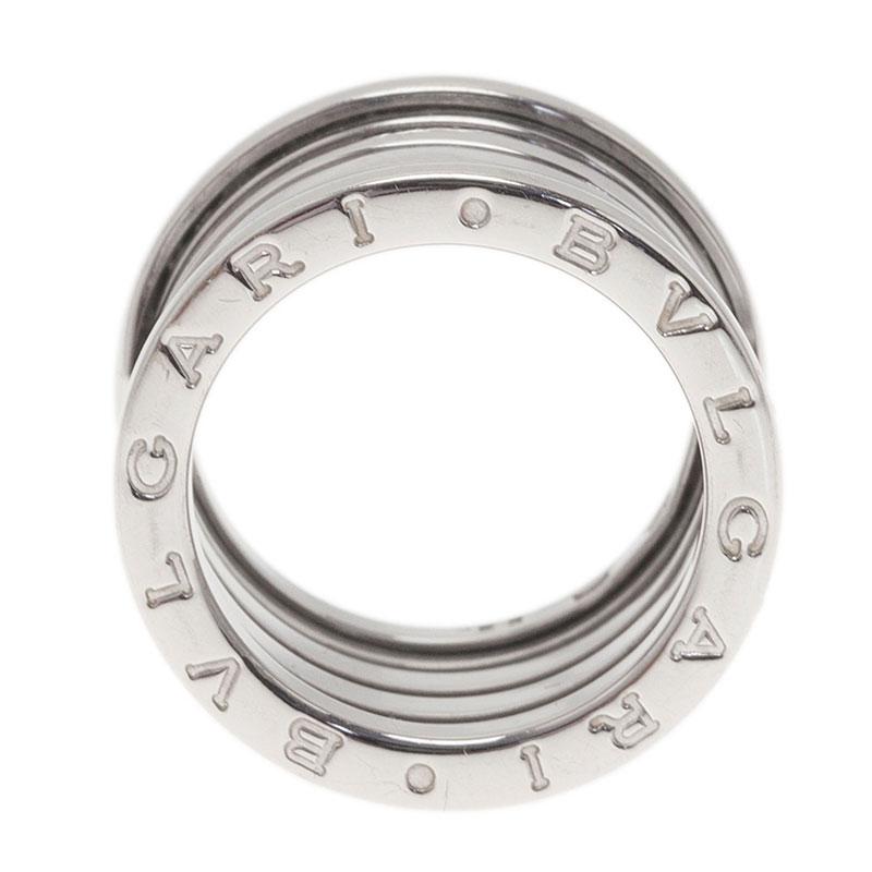 bvlgari b zero1 4 band 18k white gold ring size 52 buy