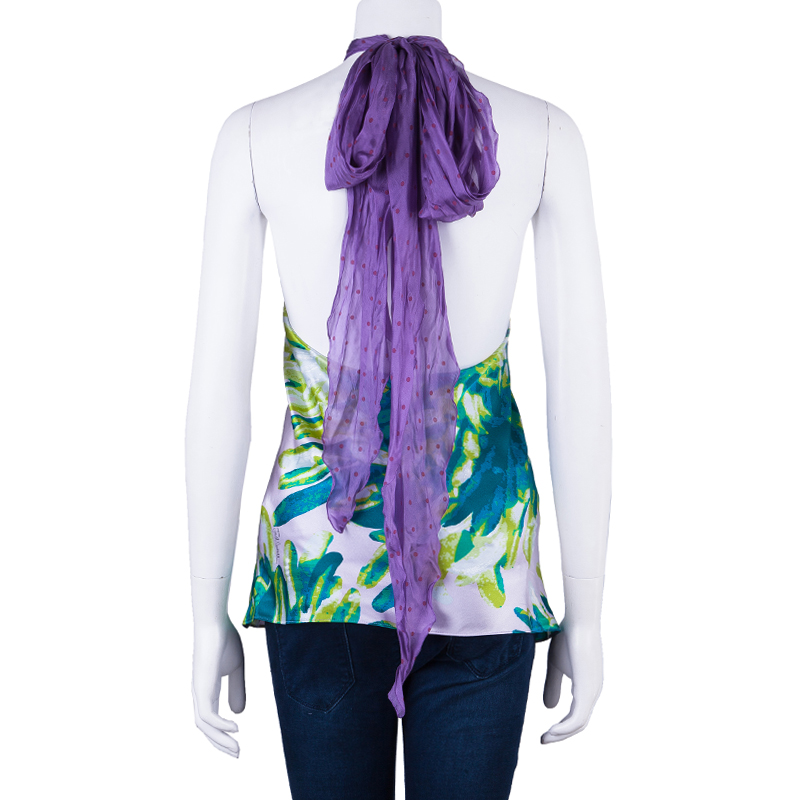 Just Cavalli Multicolor Printed Top M