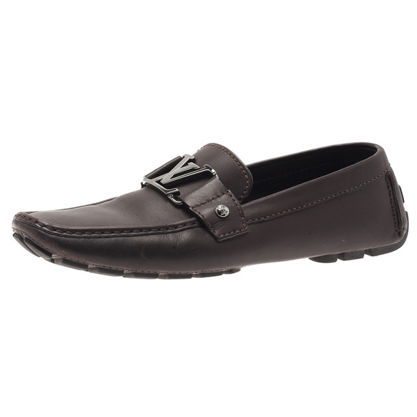 Louis Vuitton Brown Leather Monte Carlo Loafers Size 40