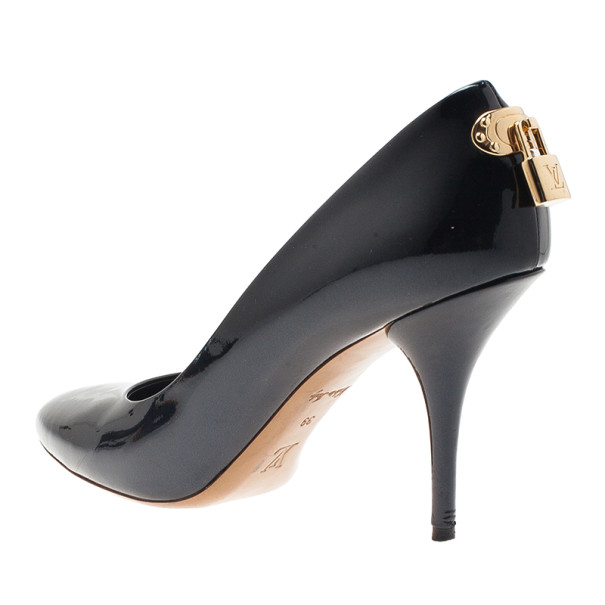 Louis Vuitton Black Patent Oh Really! Pumps Size 39