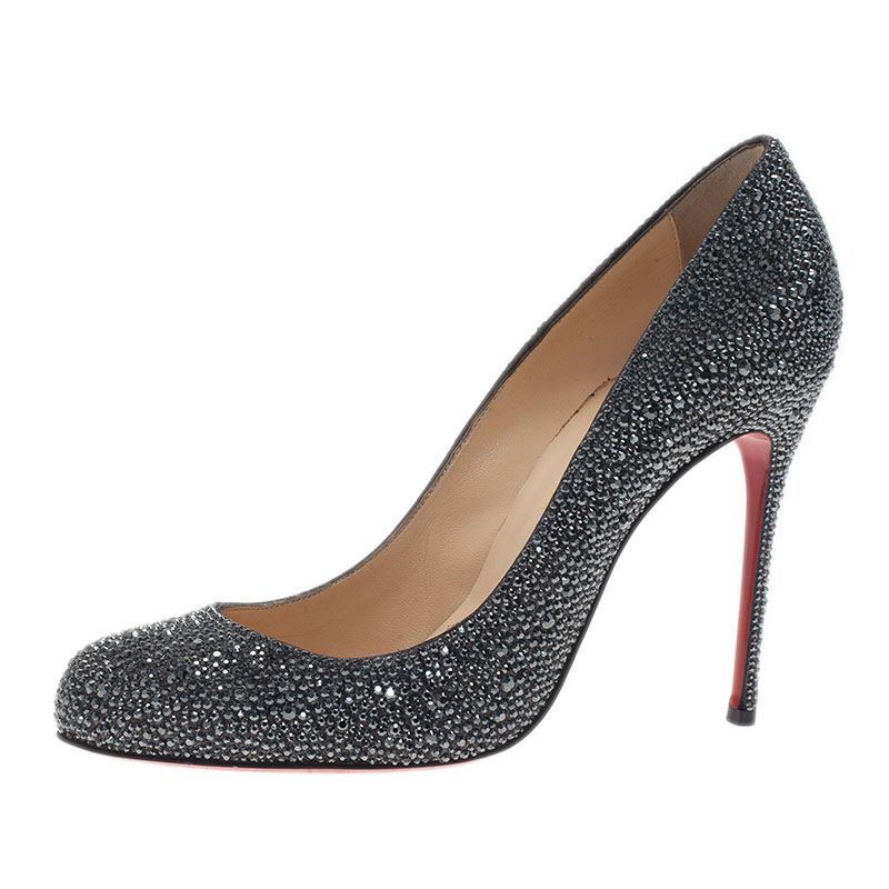 Christian Louboutin Black Fifi Strass Pumps Size 40