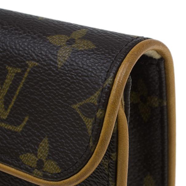 Louis Vuitton Brown Monogram Canvas Florentine Convertible Vintage Belt Bag