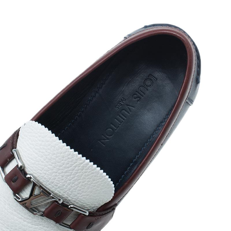 Louis Vuitton Tri Color Leather Major Loafers Size 42.5