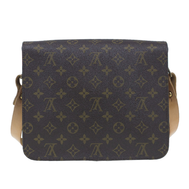 Louis Vuitton Brown Cartouchiere GM