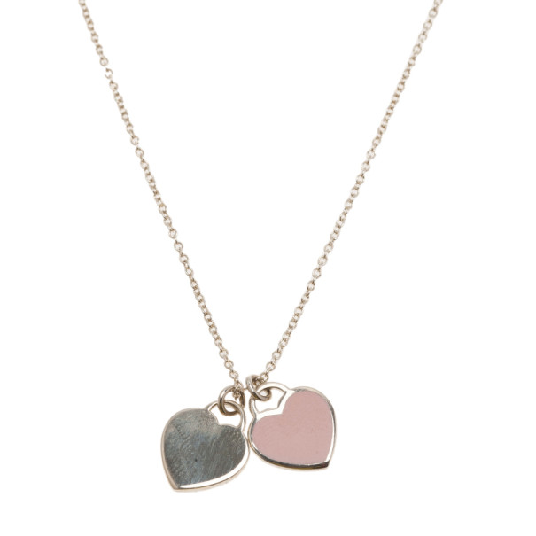 Tiffany co return to tiffany mini double heart tag pendant buy prevnext aloadofball Image collections