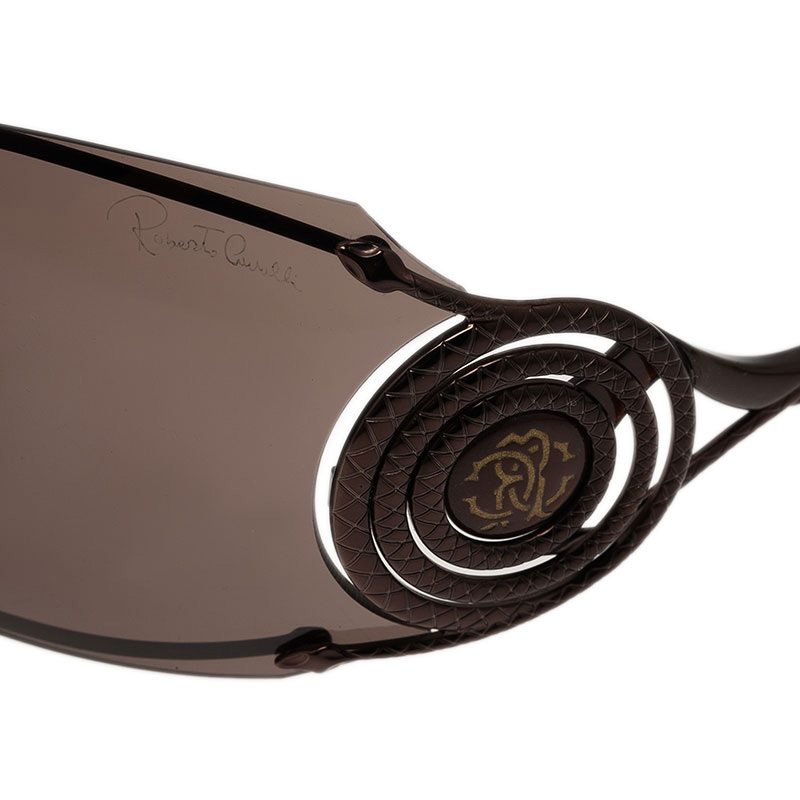 Roberto Cavalli Brown Opale Shield Sunglasses
