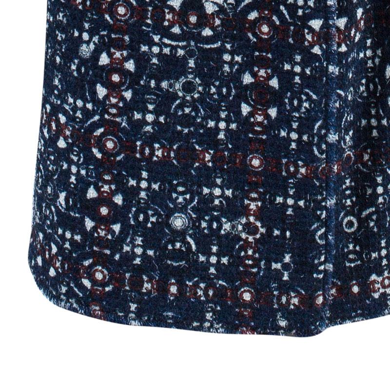 Chanel Printed High Waist Maxi Skirt M