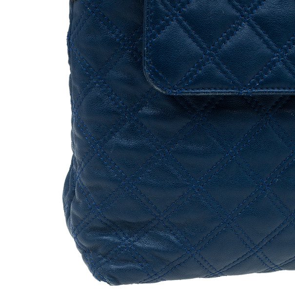 Marc Jacobs Blue Quilted Leather The XL Shoulder Bag