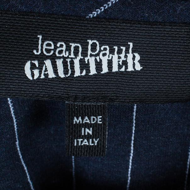 Jean Paul Gaultier Mens Pinstriped T-Shirt L