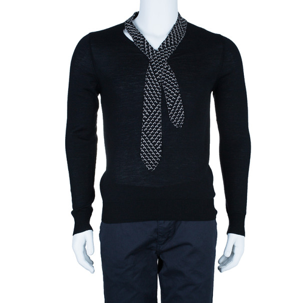 Jean Paul Gaultier Mens Knit Tie Sweater M
