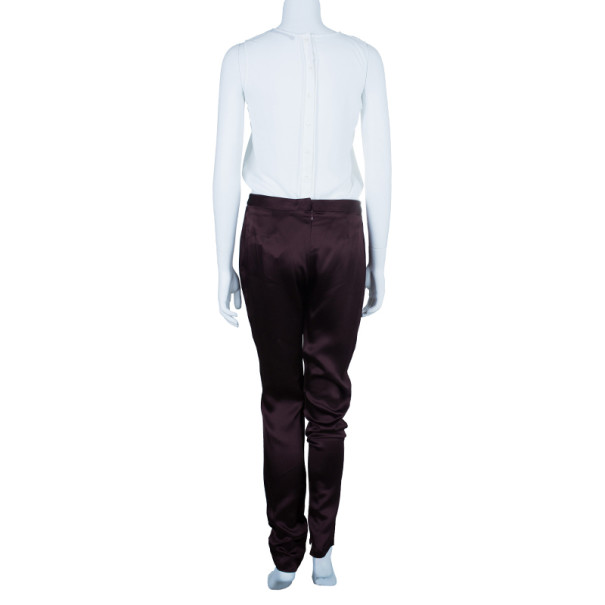 Chalayan Amaranth Satin Pants S