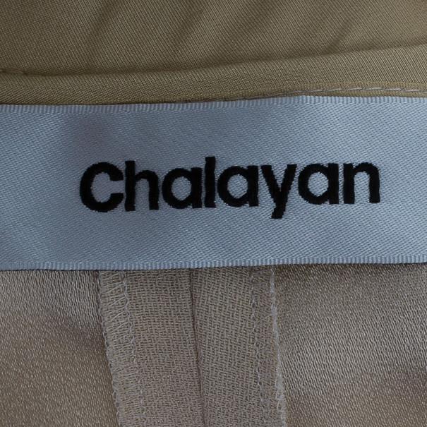 Chalayan Slit Cream Maxi Skirt M