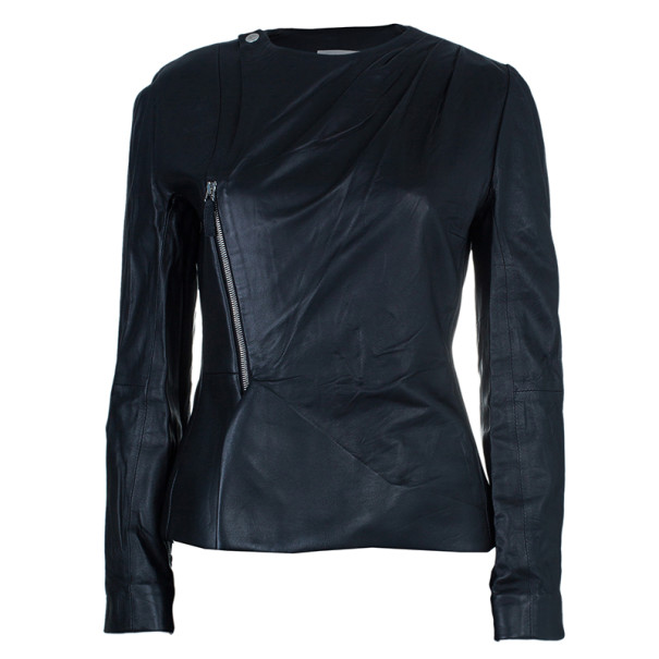 Chalayan Leather Zipper Jacket M