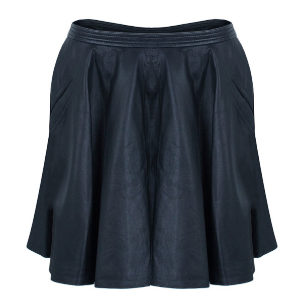 Chalayan Leather Skater Skirt S
