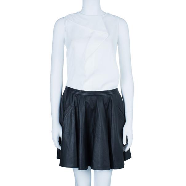 Chalayan Leather Skater Skirt M