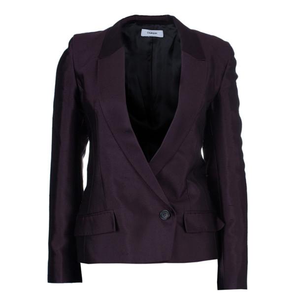 Chalayan Burgundy Sculpted Amaranth Jacket S