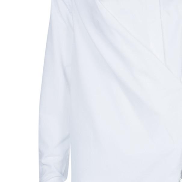 Chalayan White Poplin Zip Shirt  S