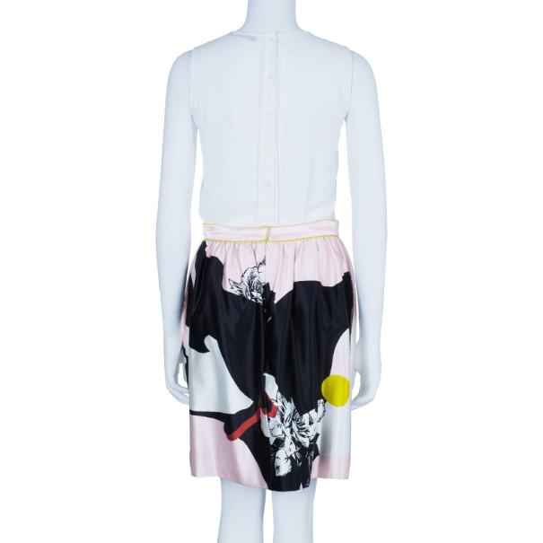 Prabal Gurung Rose Gathered Flounce Skirt M