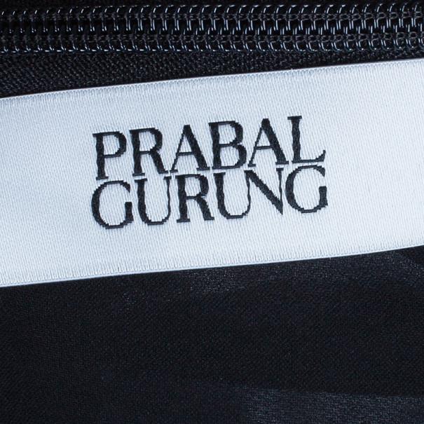 Prabal Gurung Long Sleeve Floral Print Silk Bow Dress M