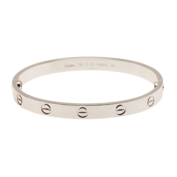 Cartier Love 18K White Gold Bracelet 17CM
