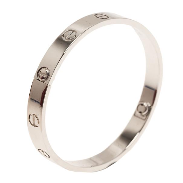 Cartier Love 18K White Gold Bracelet 17CM
