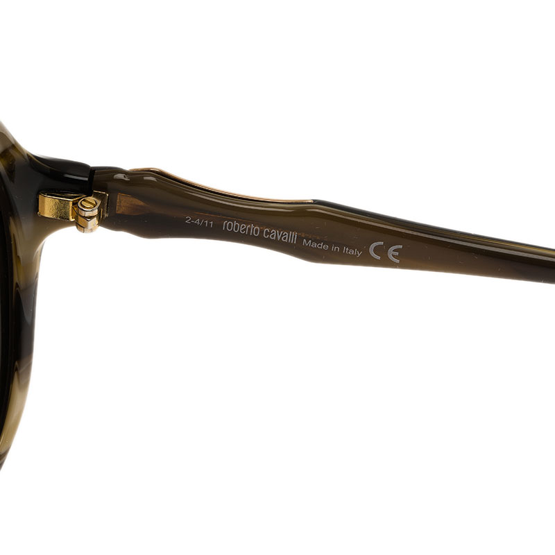 Roberto Cavalli Brown Bougainvillea Square Sunglasses