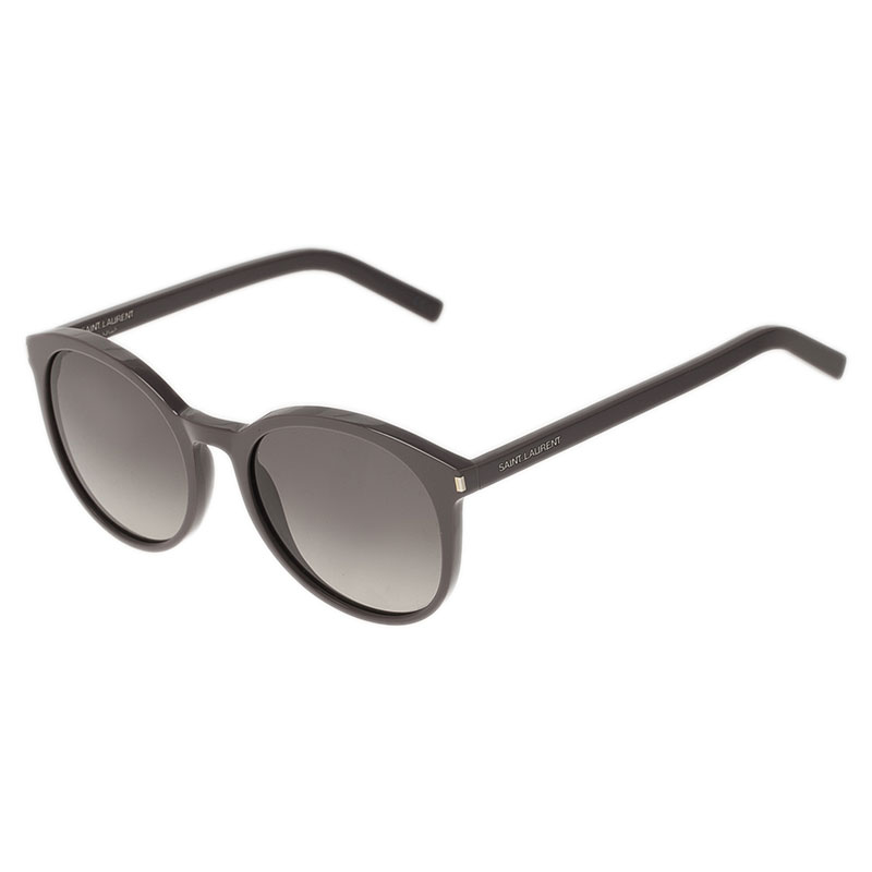Saint Laurent Paris Grey Round Sunglasses