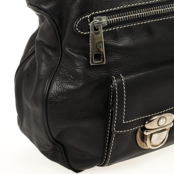 Marc Jacobs Black Leather Stella Tote