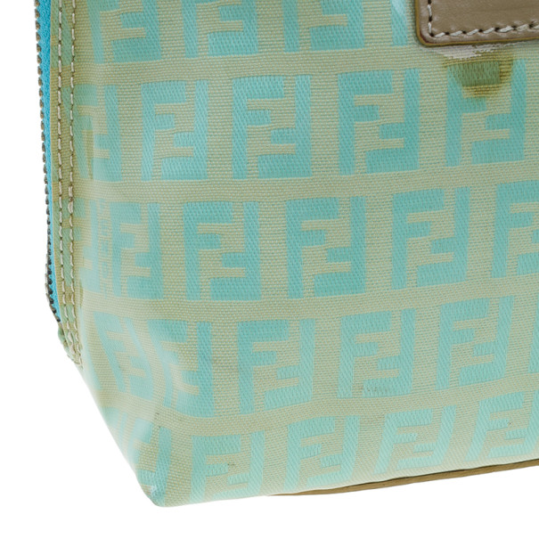 Fendi Light Blue Zucca Vinyl Bag