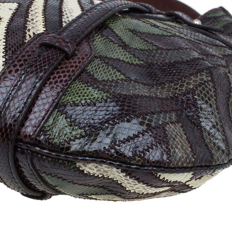 Gucci Multicolor Python Limited Edition 85th Anniversary Hobo Bag