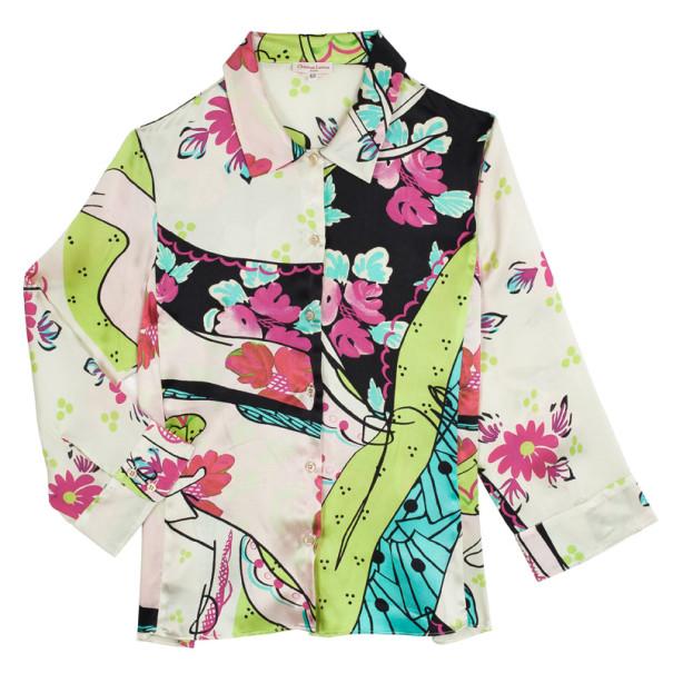 Christian Lacroix Multicolored Silk Blouse L