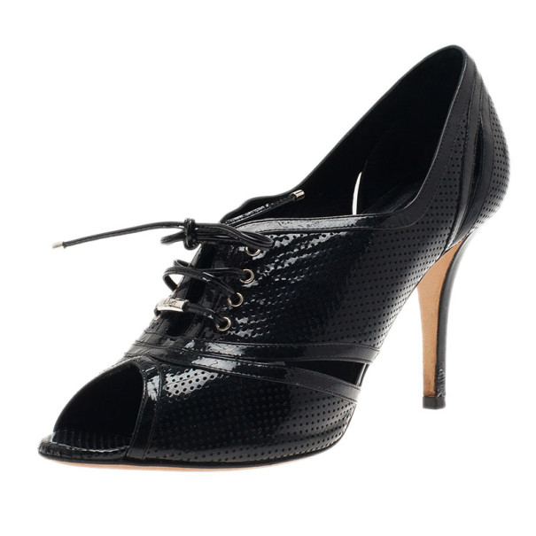 Dior Black Leather Oxford Pumps Size 39.5