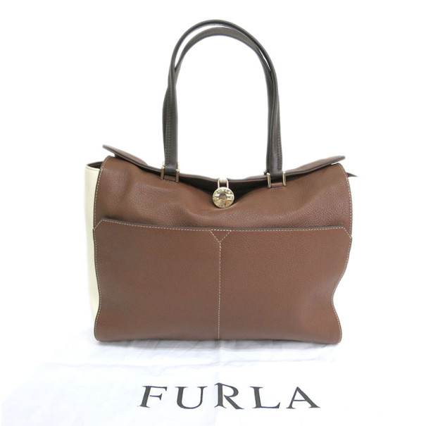 Furla Brown Leather Tote