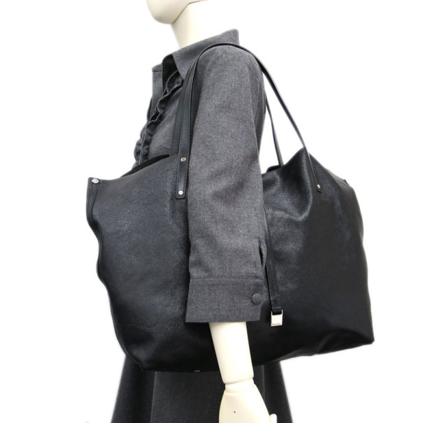 Tiffany & Co. Black Leather Reversible Tote