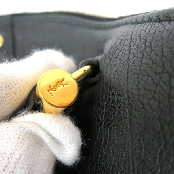 Saint Laurent Paris Black Leather Mini Muse Shoulder bag
