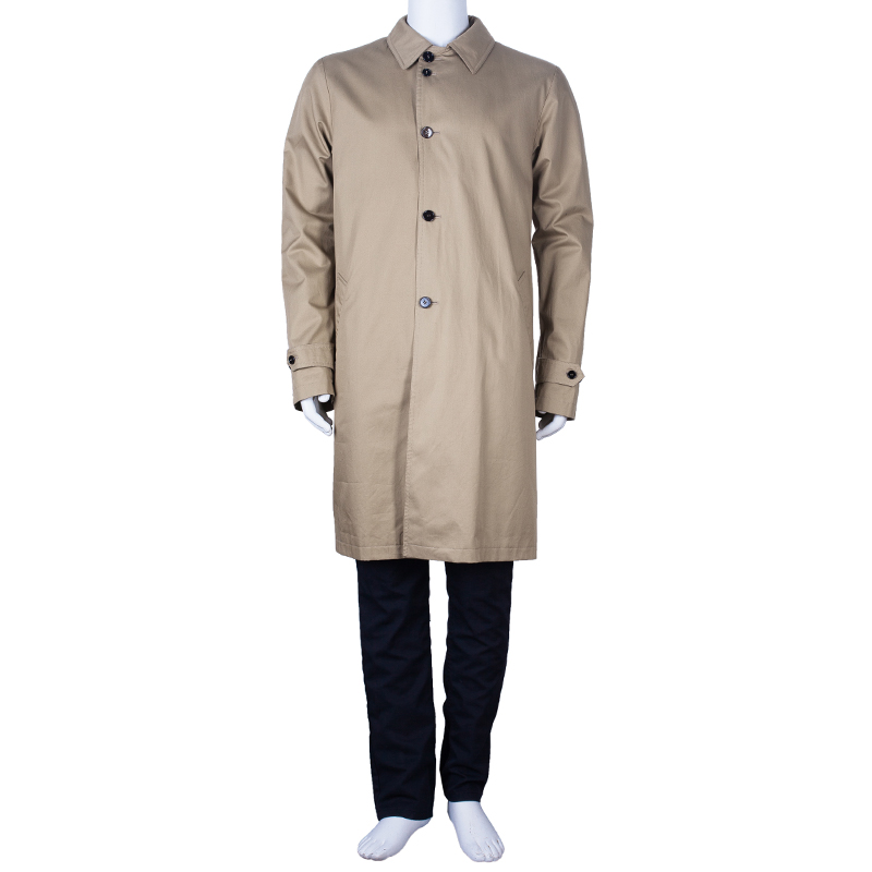 Dolce and Gabbana Men's Beige Long Trench Coat L