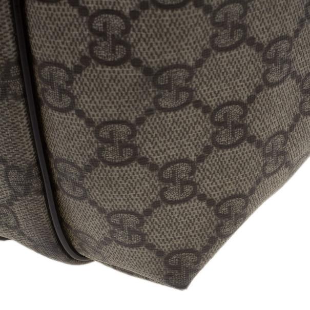 Gucci Monogram Canvas Leather Tote