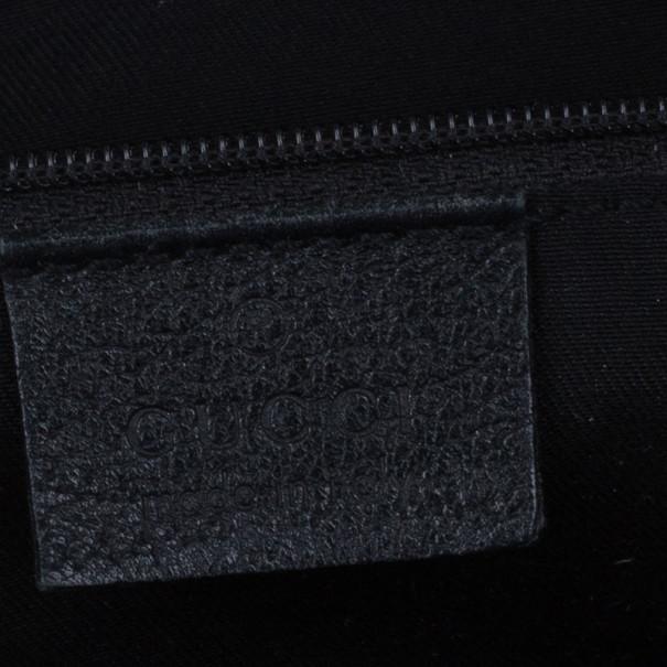 Gucci Black Monogram Small Abbey Boston