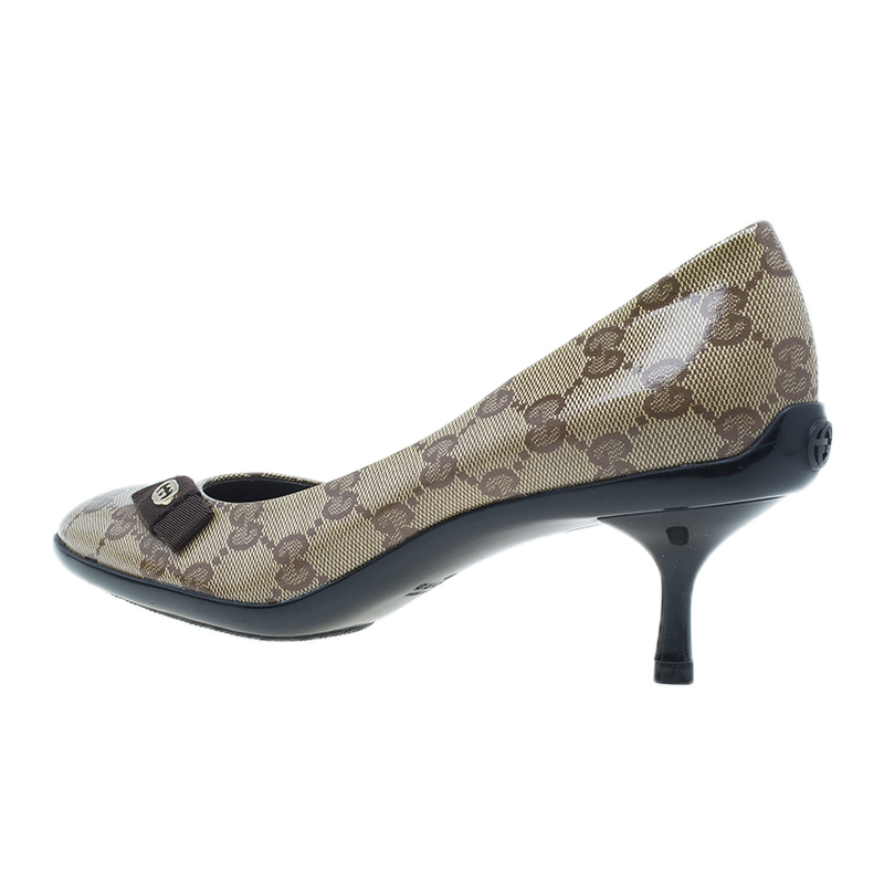 Gucci Guccissima Crystal Bow Pumps Size 35.5