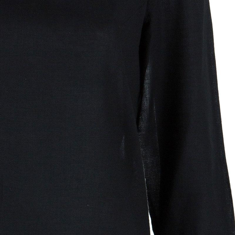 Diane von Furstenberg Black Silk Top M