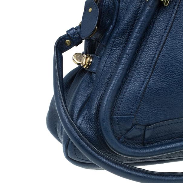 Chloe Blue Leather Medium Paraty Handbag