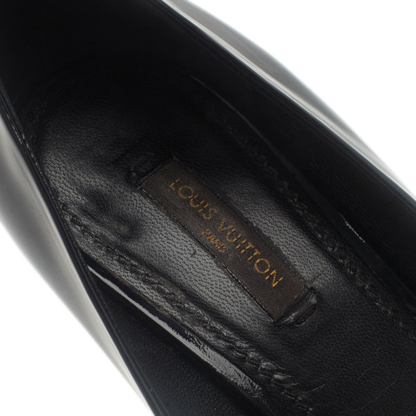 Louis Vuitton Black Patent Oh Really! Peep Toe Pumps Size 39